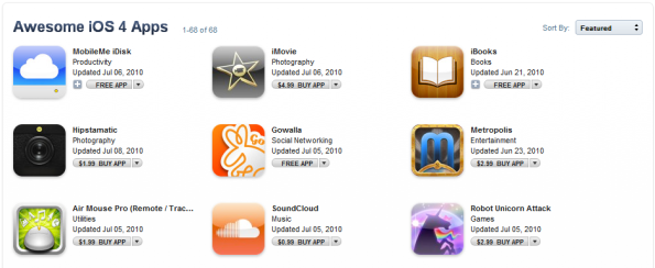 Awesome iOS4 Apps
