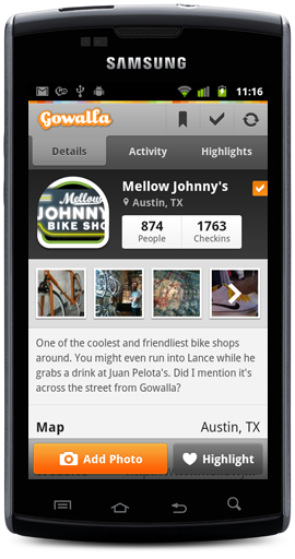 Gowalla 3.0 Android